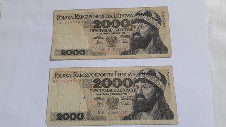 BanknotY 2000 zł 1982 rok - Seria BP i BR