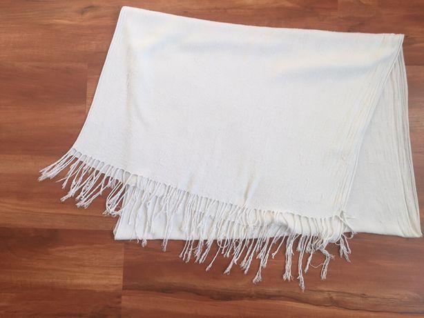 Білий шарф, белый длинный шарф. длина 186 см