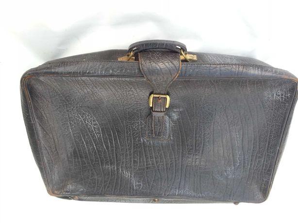 Antyk stara walizka Harrods skóra 78/55/21 cm