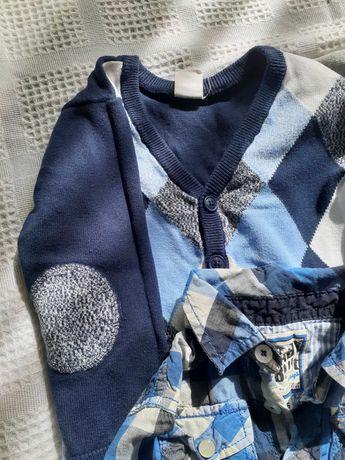 Набор на мальчика 12-18месяца, рубашки и кофточки