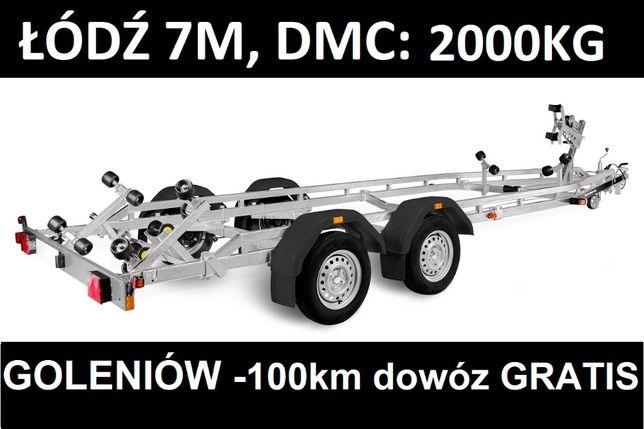 Przyczepa podłodziowa Brenderup 242000TB SR 7.2m, DMC 2000kg - BRUTTO!