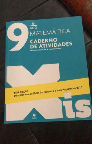Caderno de atividades de matemática 9°ano pouco uso