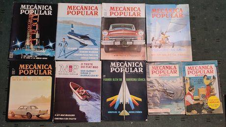 Lote 9 revistas Mecãnica Popular - Anos 50 e 60