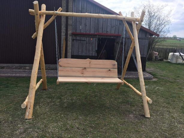 Huśtawka drewniana ogrodowa Brzozowa