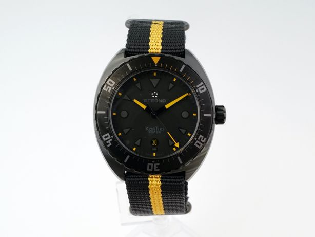 Мужские новые часы Eterna Super Kontiki Black Limited Edition 45 мм