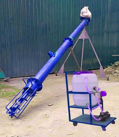 Шнековый погрузчик на 220В и 380В, шнек для зерна, протравитель