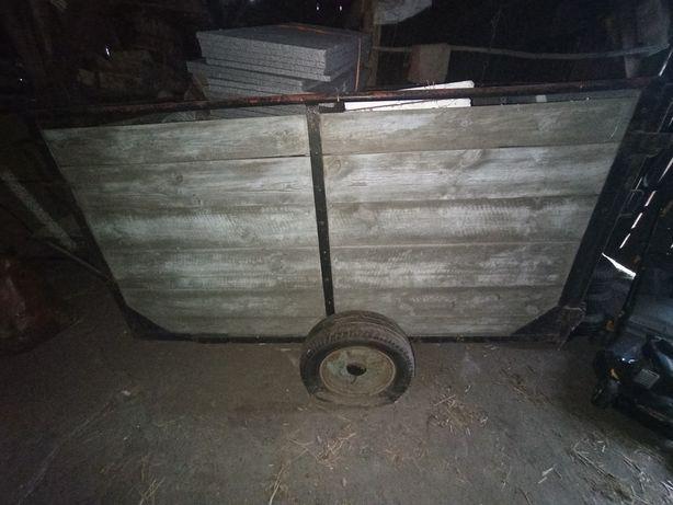 Wózek dwukółka skrzynia do ciagnika