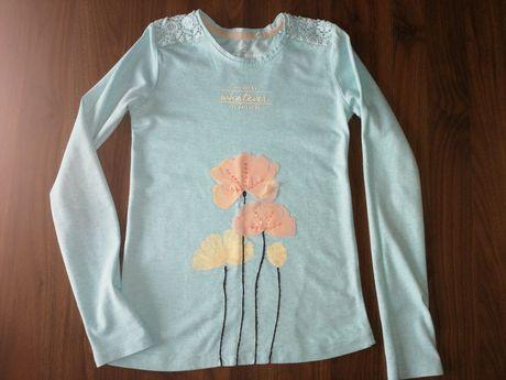 Błękitna bluzka 5 10 15 dziewczynka 140 cm
