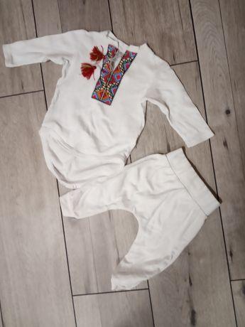 Вышиванка для малыша (боди+штанишки)1-3мес.