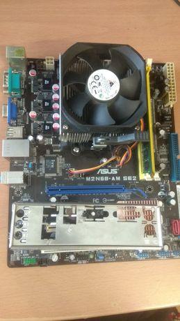 Комплект AM3/ athlon 215/2gb/asus m2n68-am se2/видеокарта 8500gt