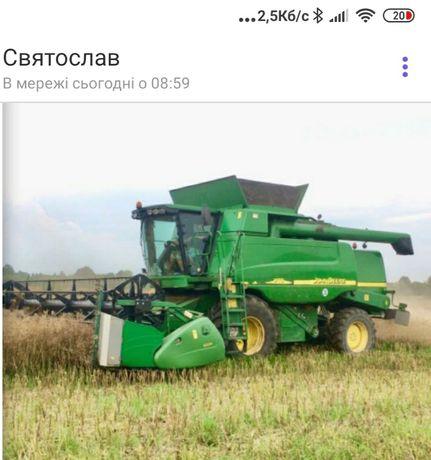 Надаються послуги по збиранню зернових культур
