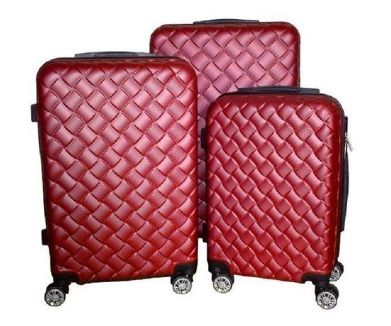 Zestaw walizek set walizki podróżne mulano czerwone M L XL 1405