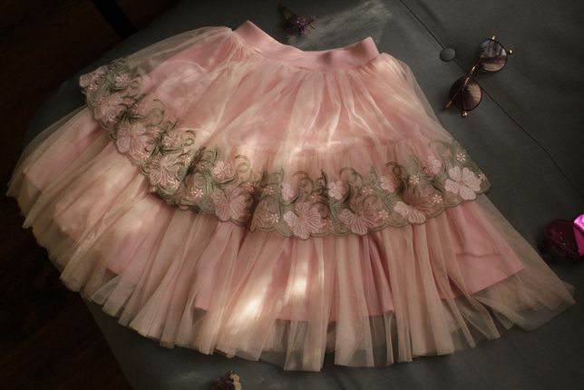 Розовая юбка для девочки подростка