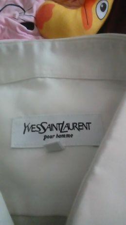 Camisa de homem em seda yves saint laurent