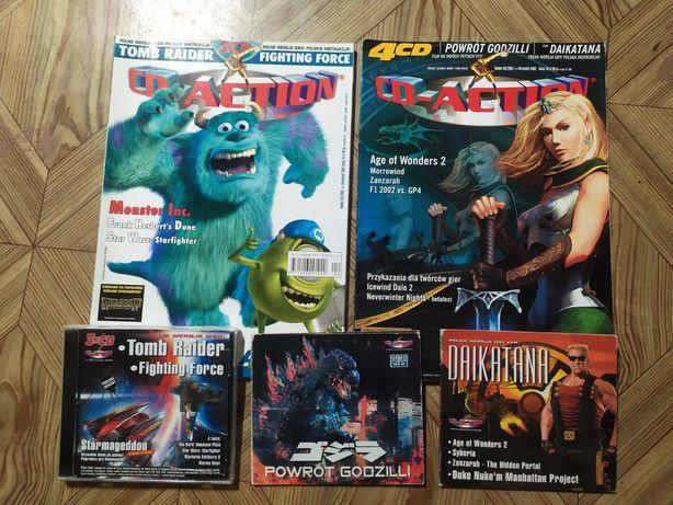 2 magazyny CD action z płytami.2002 rok