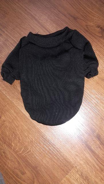 Czarna ciepła bluza dla pieska Rozmiar S