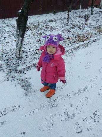 Шапка+шарф набор зима