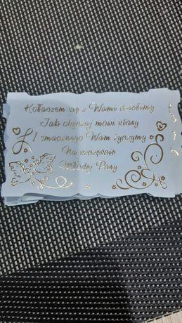 11 kartek do kołocza weselnego