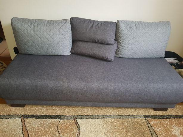 sofa rozkładana black red white