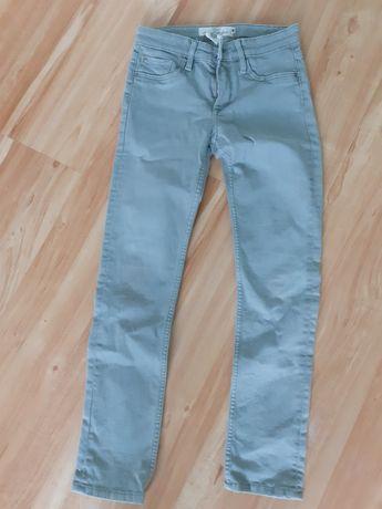 Spodnie jeansy oliwkowe