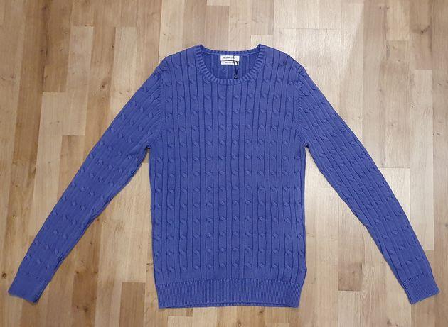 Nowy męski sweter warkocz Massimo Dutti rozmiar L kolor fioletowy
