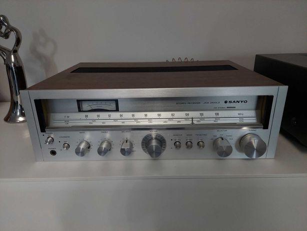 Zestaw Vintage Amplituner SANYO JCX 2100LZ+Monitory ITT E1 - 120 IDEAŁ