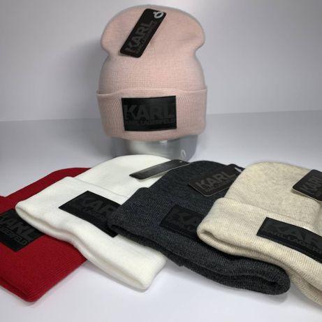 Зимняя шапка Karl Lagerfeld в разных цветах - листайте фото (двойная)