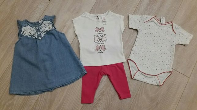 Zestaw r.62 Sukienka bluzka spodnie H&M C&A