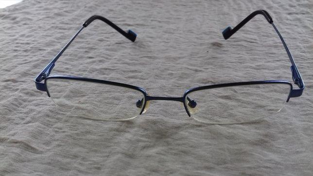 oprawa żyłkowa do okularów niebieska