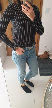 Sweter półgolf Zara paski S/M