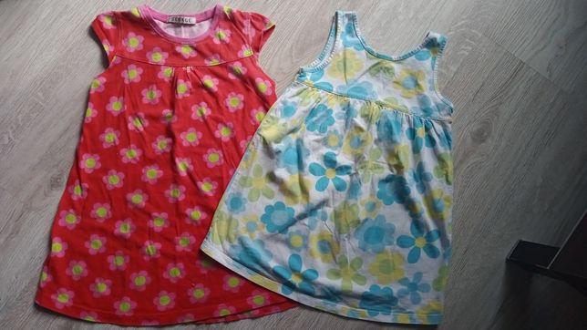 2 sukienki na lato GEORGE 104/110 kwiatuszki