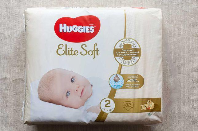 Подгузники Huggies Elite Soft 2 (4-6 кг), 82 шт
