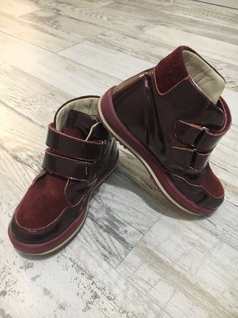 Ботинки осенние кожаные, 27 размер, Miracle me