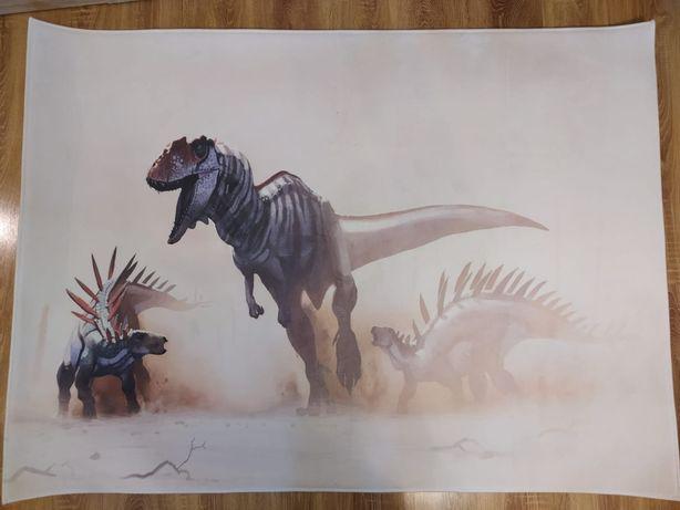Dywan do pokoju, mata 3d w dinozaury