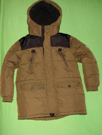 Zimowa pikowana kurtka GAP r 140(L)