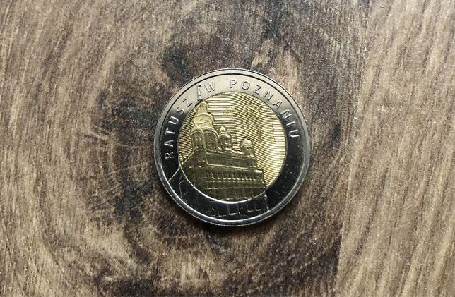 Moneta kolekcjonerska 5 zł -Ratusz w Poznaniu 2015