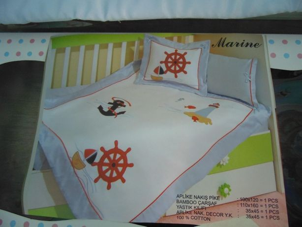 Подарочный набор постельного в кроватку для мальчика