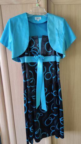 Sukienka damska, kolor czarny i niebieski, rozmiar 38