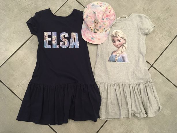 H&M sukienki Elsa Kraina Lodu+czapka h&m gratis