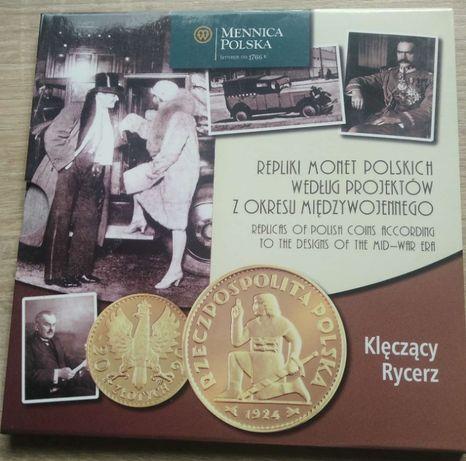 Monety Klęczący Rycerz Mennica Polska Certyfikat