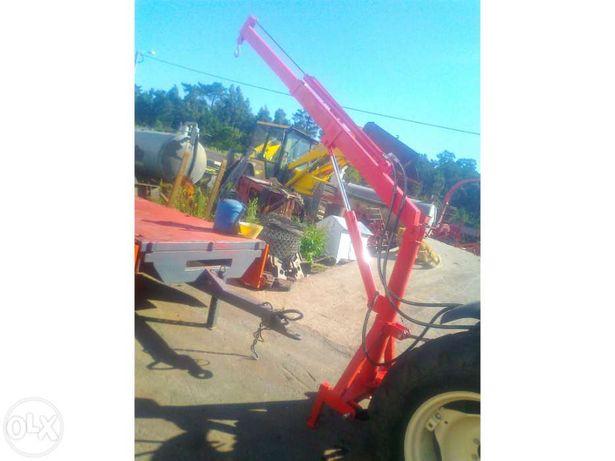 Grua de trator hidraulica com extensivel hidraulica nova