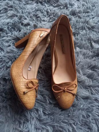 HIT buty na obcasie jak nowe szpilki bezowe skoropodobne