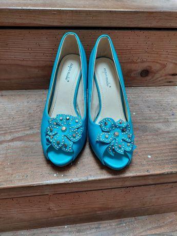 Sapatos d3 slato azuis