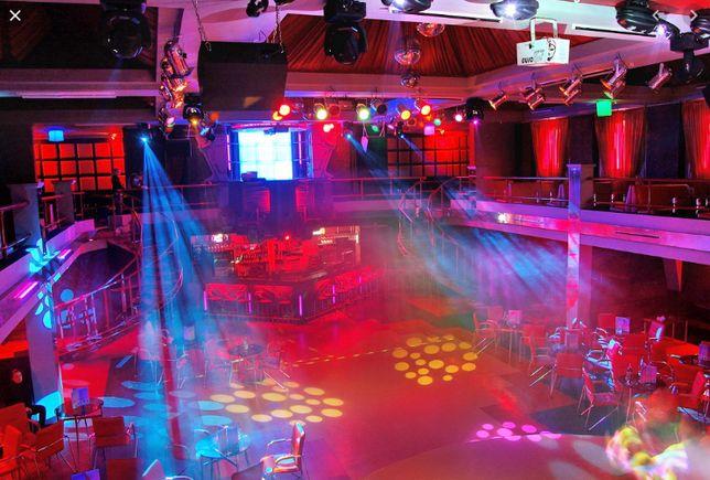 Установка свет-звук в кафе, клубы, дискотеки