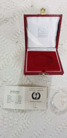 Moeda comemorativa prata FIA campeões F1 25€ - Gerhard Berger