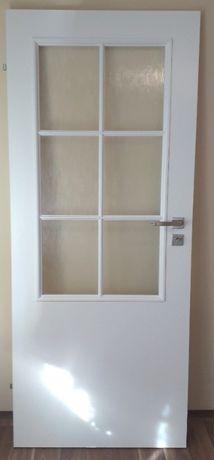 skrzydło drzwiowe, drzwi do pokoju, szkło, przeszklone - 1/5 ceny