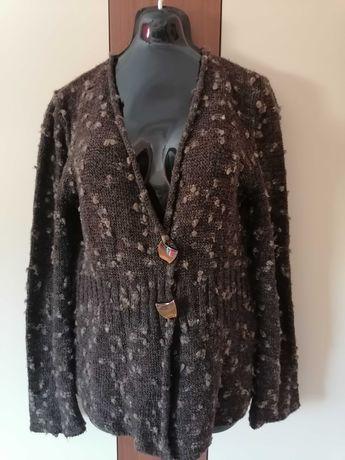 Sweter brązowy rozpinany  --  r  --  42