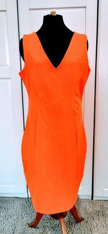 Sukienka pomarańczowa Mohito rozmiar 38