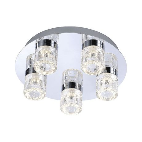 Plafon łazienkowy LED BILAN IP 44 szkło chrom Paul Neuhaus 8145-17