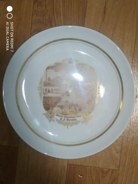 Тарелка сувенирная, настенная, музей коньячного деда Шустова